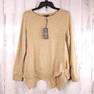 DG2 Diane Gilman Long Sleeve Knit Blouse M